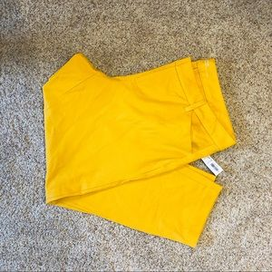 Old Navy NWT yellow pixie pants size 16